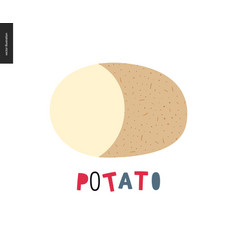 Food patterns potato vector
