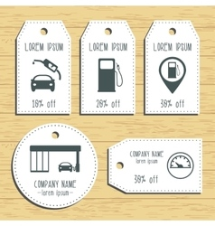 Gas station discount gift tags Ready to use Flat vector