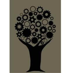 Gear tree vector
