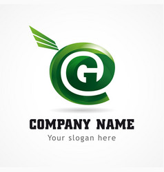 Green company internet logo vector