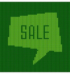 Green Knitted Sale Bubble for your design vector image vector image