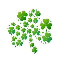 green shamrock saint patricks day vector image