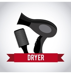 hair dryer design vector image vector image