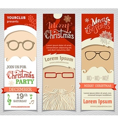 Ho Ho Ho Set of Santa banners vector
