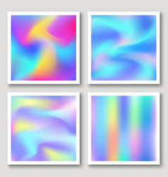 holographic hipster abstract backgrounds set vector image