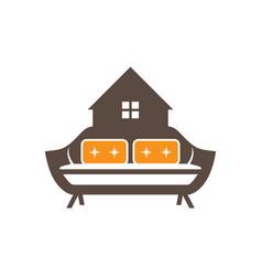 Home interior logo design vector