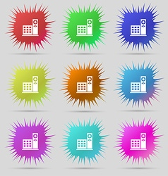 Hospital icon sign A set of nine original needle vector