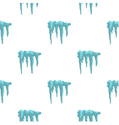 Icicles pattern flat vector