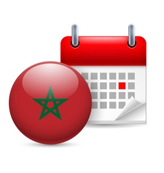 Icon of National Day in Morocco vector image