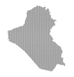 Iraq map country abstract silhouette of wavy vector
