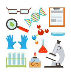 laboratory equipment set science vector image