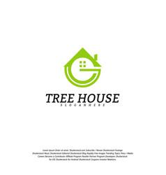 letter g house logo template house logo vector image