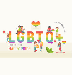 Lgbtq people community banner vector