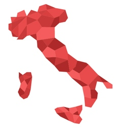Map italy low poly vector