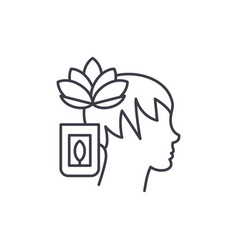 meditation line icon concept meditation vector image