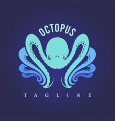 modern octopus silhouette logo vector image