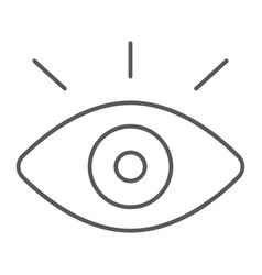 Monitoring thin line icon security and eye vector