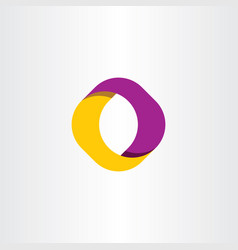 O letter logo looped icon symbol vector