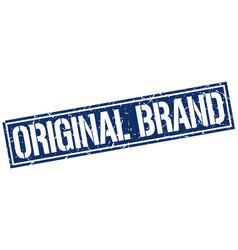 Original brand square grunge stamp vector