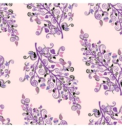 Ornamental colored seamless floral pattern vector image