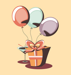 party and gift box design vector image