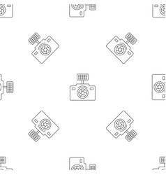 photo camera pattern seamless vector image