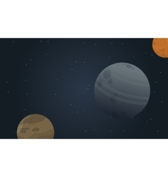 Planet space landscape vector