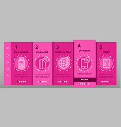 pos terminal mobile payment onboarding vector image