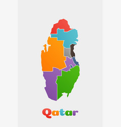 qatar provinces map concept for political regions vector image