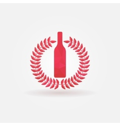 Red Wine polygonal logo vector