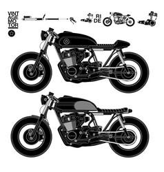 Robot motorcycle vector