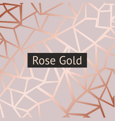 Rose gold decorative background with imitation vector