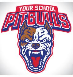 school mascot pitbull dog vector image
