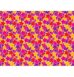 seamless color stars pattern vector image
