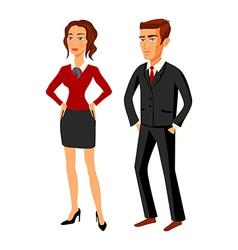 set characters design office team man women vector image