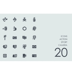 Set of action sport camera icons vector image