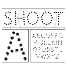 shooter alphabet vector image