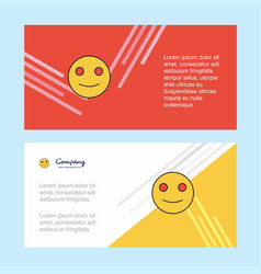 smiley emoji abstract corporate business banner vector image