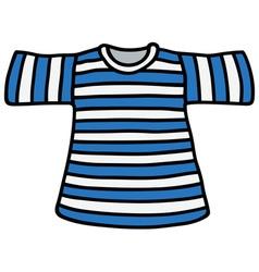 Striped T-shirt vector