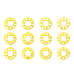 Sun icons set flat design vector