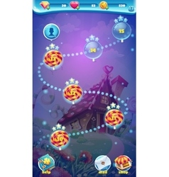 Sweet world mobile GUI map screen video web games vector image