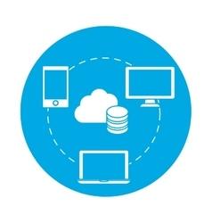 Symbol complete web hosting icon vector