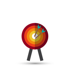 target with arrow standing on a tripod goal vector image