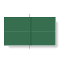 Tennis table vector image