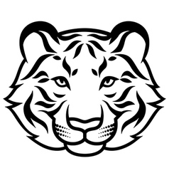 Tiger calm black vector