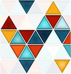 Triangles background with white copy space vector image