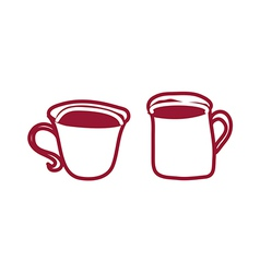 Two cups of coffee vector