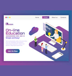 University on-line isometric vector