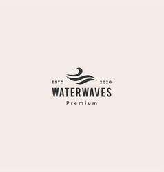 water wave hipster vintage logo icon vector image
