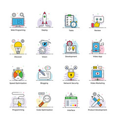 Web design icons pack vector